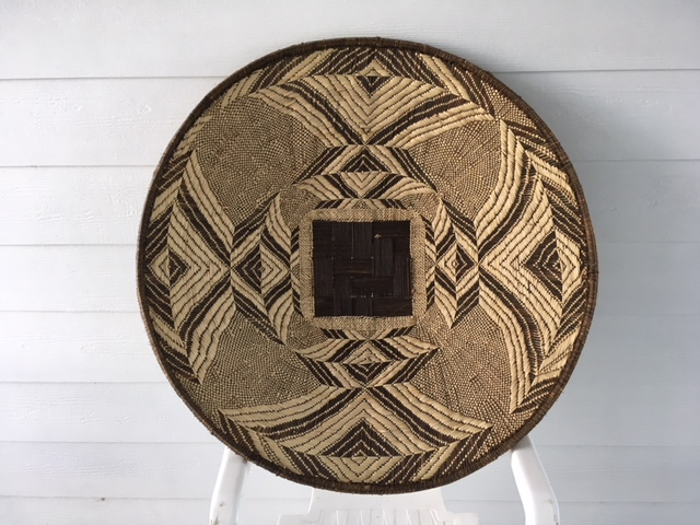 A Large Hand Woven Basket
