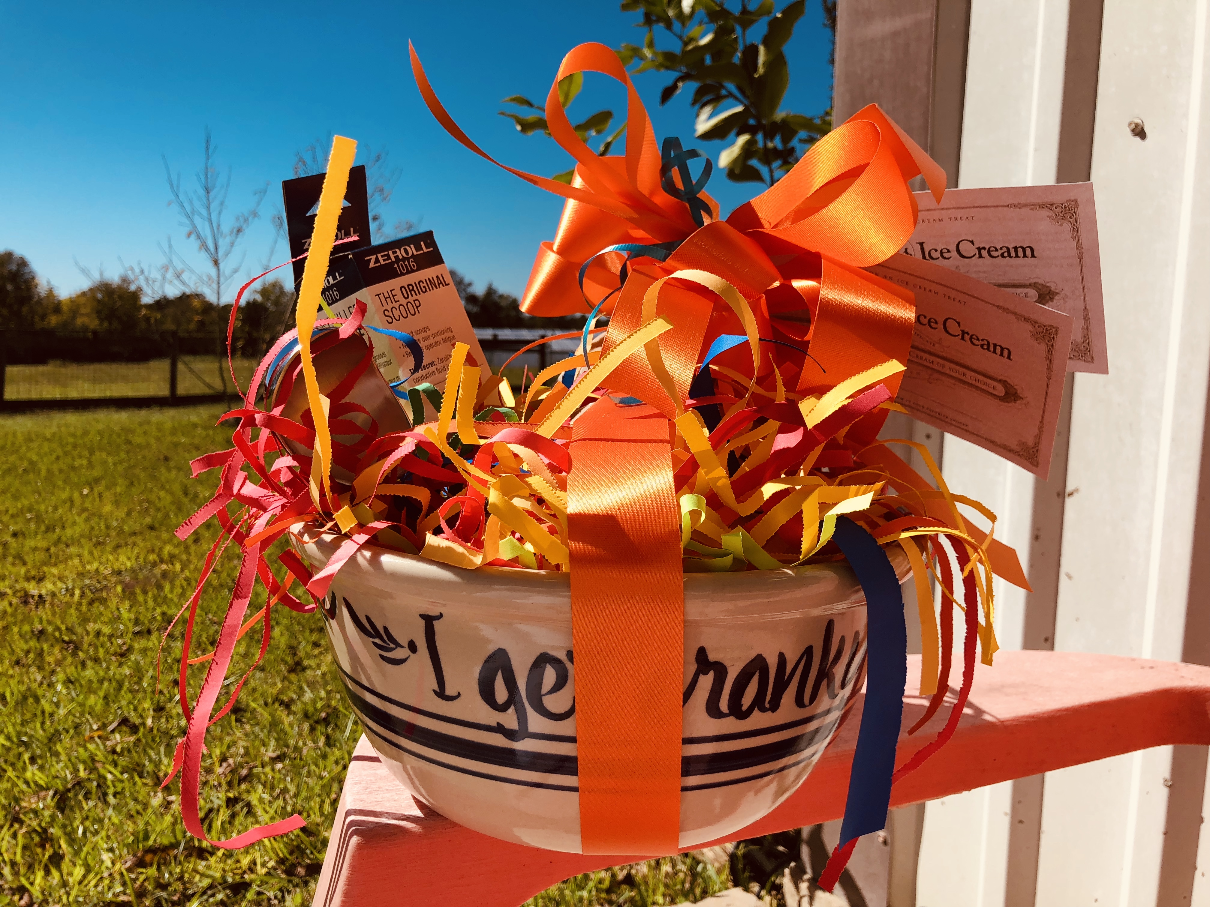 Gift basket from Blue Bell Creameries
