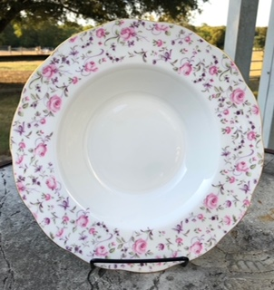 Royal Albert Rose Confetti Vintage Rim Soup Bowl