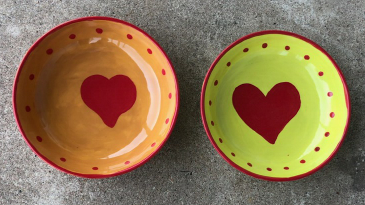 Empty Bowls with Heart